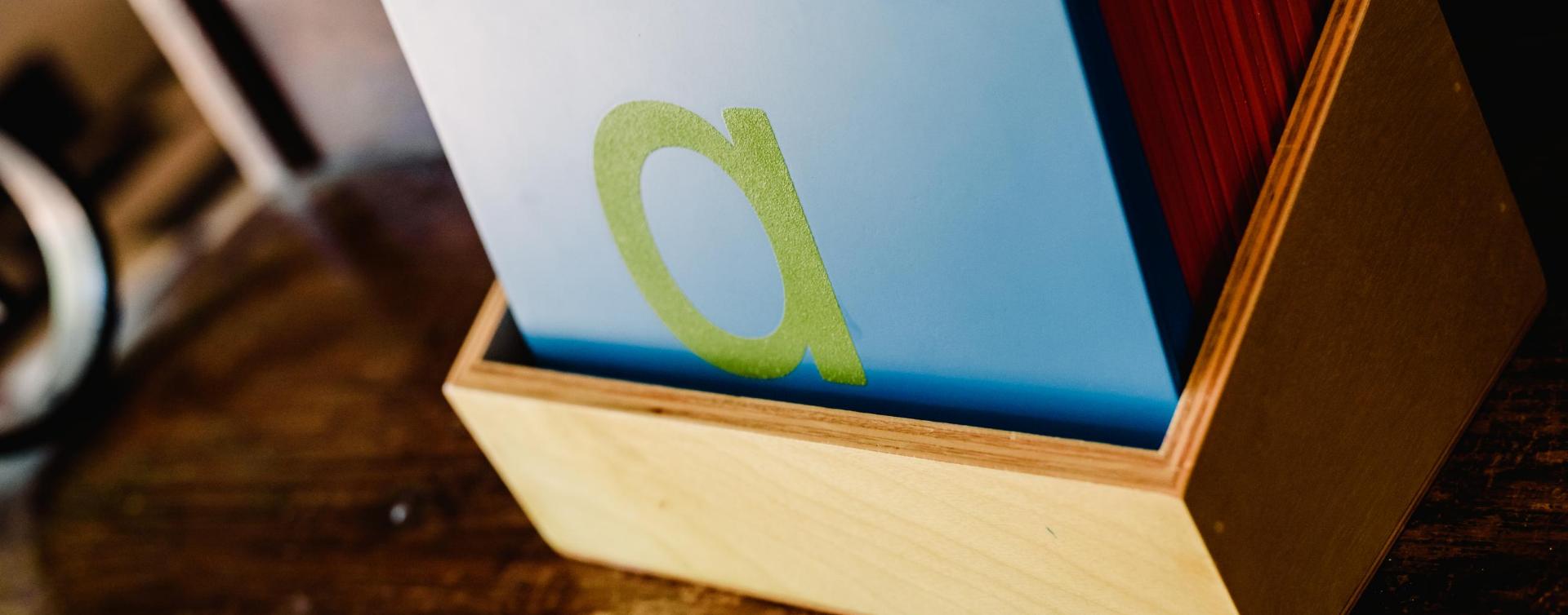 Material Spotlight – The Sandpaper Letters